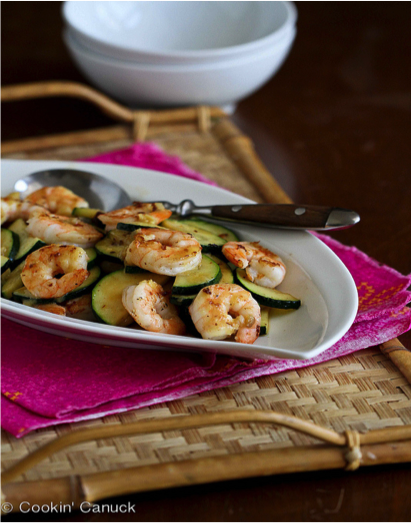Shrimp and Zucchini Stir Fry with Miso Lime Sauce