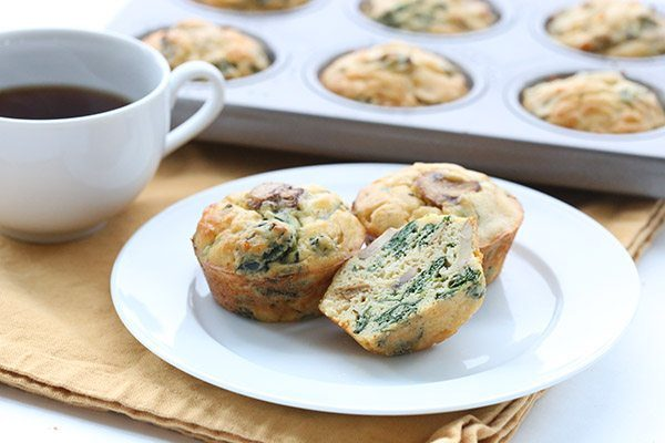 Spinach & Mushroom Omelet Muffins