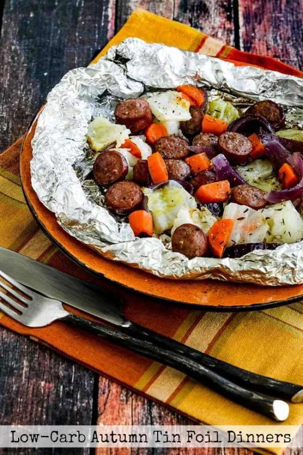 Sausage and vegetable foil pack